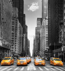 Photo Mural Wallpaper by New York Yellow Taxis Wallpaper Wall Mural Wallsauce