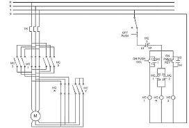 reverse direct online starter circuit diagram circuit and