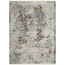 persian blue and brown rug