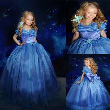 Princess Halloween Costumes Kids Baby Girls Dress Summer 2016 Princess Cinderella Dress Halloween