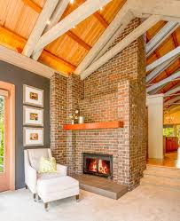 Living Room Designs With Red Brick Fireplace Brick Fireplace Living Room Transitional With Red Brick Fireplace