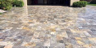 Travertine Patio Pavers by Natural Stone Paver Installation By Flpavers