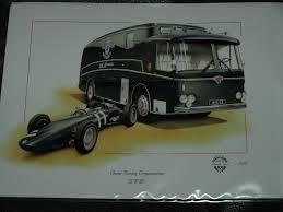 christmas card racing car brm owen racing 50 years celebration