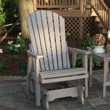 Patio Gliders Furniture South Beach Adirondack Chair In White By Polywood