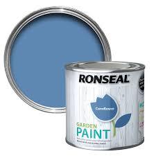 Cornflower Blue Bathroom by Ronseal Garden Cornflower Matt Garden Paint 0 25l Departments