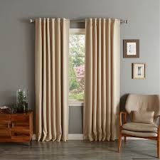 Heavy Insulated Curtains Aurora Home Insulated Thermal Blackout 84 Inch Curtain Panel Pair