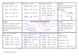quadratic equations by danwalker teaching resources tes