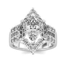 zirconia stone rings images Luxury sterling silver 2 0 ct marquise cut white cz cubic jpg