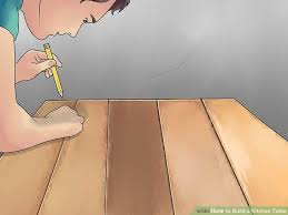 How To Build A Kitchen by How To Build A Kitchen Table With Pictures Wikihow