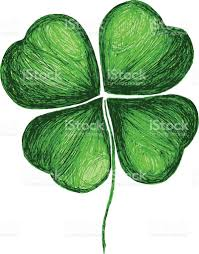 four leaf clover hand drawing stock vector art 531671275 istock
