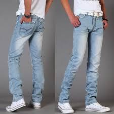 mens light blue jeans skinny summer men s jeans slim fit s water wash white light blue jeans