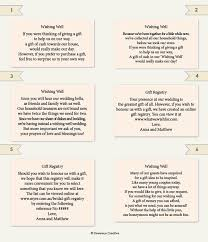 wedding gift list wording wedding information wording exle wedding ideas