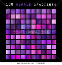 shades of purple color set 100 purple color shades gradient stock vector 720939016
