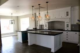 Kitchen Island Decorations Kitchen Double Glass Pendant Lights Over White Island Decorations