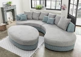 canapé demi lune limoncello aqua argent sb meubles discount