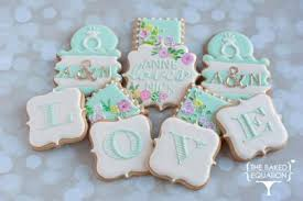 mint to be bridal shower bridal shower cookies the baked equation