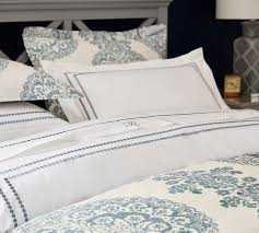 What Is A Sham For A Bed Lucianna Medallion Duvet Cover U0026 Sham Pottery Barn