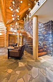 log cabin floors okanagan log home rustic entry vancouver by sticks