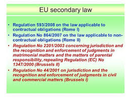Council Regulation Ec No 44 2001 Brussels International Treaty In Eu Pil Ppt