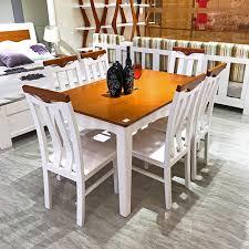 Mediterranean Dining Room Furniture Better 3301 Rubber Wood Ivory Walnut 1350 850 760mm Mediterranean