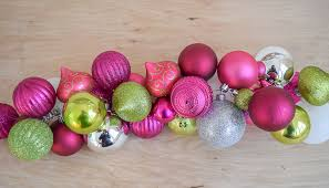 diy ornament garland my pink porch decor nourish and nestle