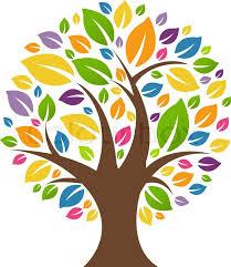 color tree stock vector colourbox
