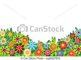 clipart vector of flowers garden vector illustration underside