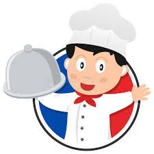 chef de cuisine fran軋is logo français de chef de cuisine illustration de vecteur