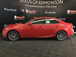 lexus red paint code new 2018 lexus is f sport series 2 4 door car in edmonton l14078
