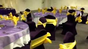purple wedding decorations purple and canary yellow wedding reception at diamond event center