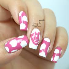 cute yoomoo cow nail art design with tutorial giveaway lucy u0027s