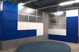 straight frames broadcast set frames corner set broadcast studio background walls