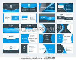 business card templates stationery design vector stock vector