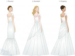 different wedding dress shapes wedding dress skirt types shapes overlays and textures lds