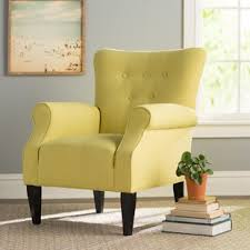 Yellow Living Room Chair Yellow Accent Chairs You Ll Wayfair