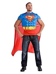 Halloween Costume Cape Amazon Superman Muscle Chest Cape Costume Clothing