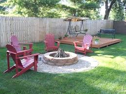 Backyard Firepits Pit Backyard Ideas Outstanding Cinder Block Pit Design