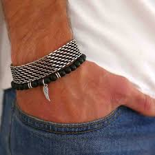 man hand bracelet images Gale man bracelet set man beaded bracelet man silver jpg