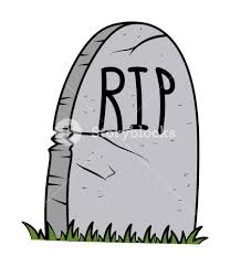 rip grave cartoon halloween vector illustration royalty free
