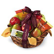 wine fruit gift basket idea great for clients and to say thank
