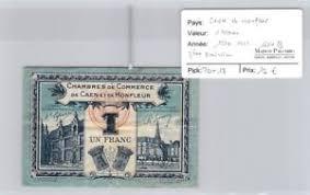 chambre de commerce caen billet chambre de commerce caen et honfleur 1 franc 1920 1923