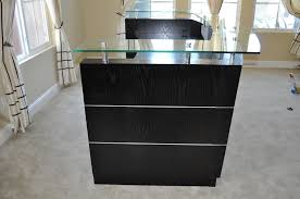 Small Receptionist Desk Small Reception Desk Black New Furniture