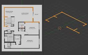 How To Make A Floor Plan In Google Sketchup by Create A 3d Floor Plan Model From An Architectural Schematic In
