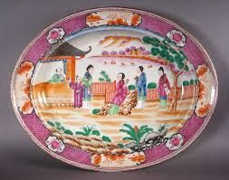 mandarin porcelain export porcelain mandarin palette domed platter dubey s