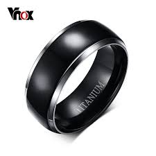 titanium wedding rings for men aliexpress buy vnox 100 titanium ring men jewelry classic