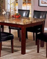 Cherry Dining Table Marble Top Dining Table In Rich Cherry Co 120311