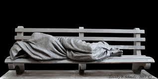 homeless jesus u0027 sculpture is far more effective at encouraging