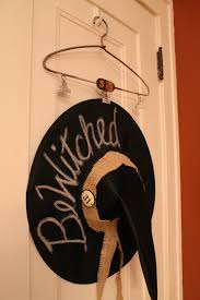 hammers and high heels my bewitching halloween door decor