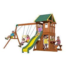 amazon com backyard discovery oakmont all cedar wood playset