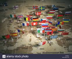 European Union Map European Union Map With Flags Of Countries Europe 3d